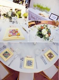 Love these mexican tiles for weddings!!