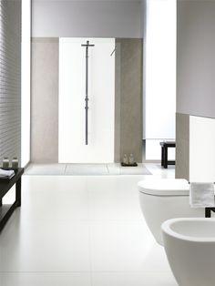 Kerlite BLACK-WHITE by COTTO D'ESTE Pavimento/rivestimento ultrasottile in gres laminato  spessore 3 mm (per pareti) 3plus rinforzato con stuoia in fibra di vetro (per pavimenti) formati: 3x1m, 1x1m e 50cmx1m.