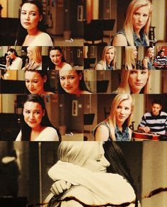 The landslide scene in glee, one of the few good moments that we actually got to see of their relationship...