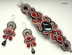 Браслет и серьги. Soutache Bracelet, Soutache Pendant, Soutache Jewelry, Bracelet Set, Beaded Jewelry, Beaded Necklace, Boho Jewelry, Jewelry Design, Bead Embroidery Jewelry