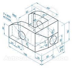 AutoCAD para todos - 100% Práctico: Ejercicios Propuestos de AutoCAD Sólidos 3D (Del 31 al 35) Autocad Isometric Drawing, Isometric Drawing Exercises, Henning Larsen, Mechanical Design, Mechanical Engineering, Kengo Kuma, Autocad Inventor, Learn Autocad, Autocad Civil