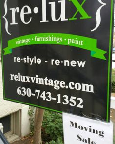 ReLux Vintage is moving to our Restyle Warrenville Warehouse! 2s610 Rte 59, Warrenville 60555 630-637-8988. Stop in during our moving sale! https://www.instagram.com/p/BM9jbUThMt9/