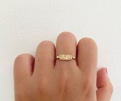 Gold Signet Ring Gold Lion Ring 18k Solid Gold by artemer