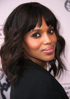 Shoulder Length Hair Style - Latest Hair style of Kerry Washington