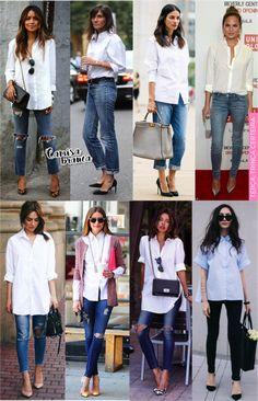 camisa branca trabalho