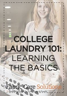 Back-to-school is right around the corner! Check out these great laundry tips for college students!