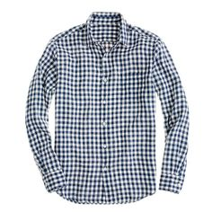 Irish linen shirt in gingham - J Crew