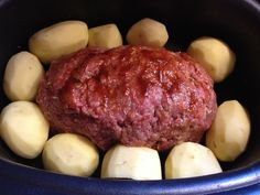 One Pot Meatloaf And Potatoes #Recipe For The Ninja Cooking System