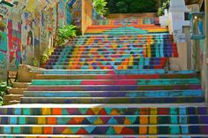 Painted stairs in Armenia Street, Mar Mikhael (Beirut).