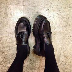 stephaniejw: Dr Martens - Marlie loafer #black #grunge