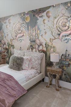Interior Wallpaper, Wallpaper Bedroom, Magical Bedroom, Decor, Girl Bedroom Designs, Kids Bedroom Wallpaper, Fairytale Bedroom, Fairytale Room, Eccentric Decor