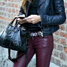 Wine leather pant NEW Wine color  faux leather pant. Hi-rise jegging stretch style. Regular length. 54% cotton, 43% rayon, 3% spandex. New without tags! I ripped tags off, but never wore them. American Eagle Outfitters Pants Skinny