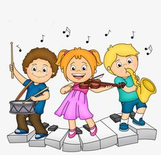 Playing the child PNG and Clipart Cartoon Kunst, Cartoon Art, Drawing For Kids, Art For Kids, School Clipart, Music Illustration, Cute Clipart, Music Images, Music Humor