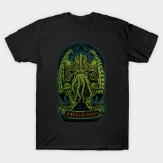Cthulhu T-Shirt by Adam Works aka Melee_Ninja. Show everyone that you are a fan of HP Lovecraft's Cthulhu with this t-shirt. Lovecraft Cthulhu, Hp Lovecraft, Sister Shirts, Family Shirts, Birthday Shirts, Gifts For Family, What To Wear, Shirt Designs, Graphic Tees