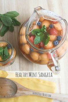 Healthy Mint Sangria