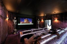 A great cinema hall at a private residence. This beautiful home is surrounded by a beautiful countryside ambiance and private golf course.