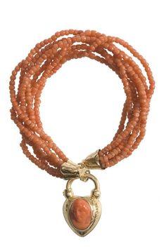 Coral bracelet with cameo. Paris, c1850