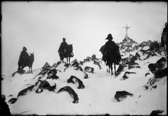 Jinetes en la nieve, Martín Chambi - Ocongate (Perú), 1934