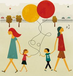 Blanca Gomez illustration for Real Simple Magazine about parents etiquette Real Simple Magazine, Canvas Board, Flat Illustration, Chalk Art, Character Inspiration, Balloons, Projects, Etiquette, Etsy