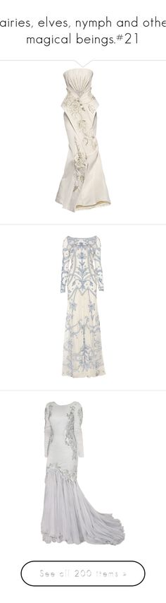 """""""Fairies, elves, nymph and other magical beings.#21"""" by xiuchen-was-taken ❤ liked on Polyvore featuring dresses, gowns, long dresses, vestidos, christian dior, christian dior dresses, christian dior gowns, christian dior evening gowns, wedding dresses and long evening dresses"""