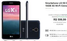 """Smartphone LG Novo K8 Dual Chip Android Tela 5"""" Quadcore 16GB 4G Wi-Fi Câmera 13MP << R$ 52799 >>"""