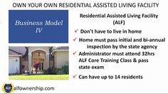 Business Model IV Residential Assisted Living Ownership Video 4 of 4 Business Planning, Business Tips, Assisted Living Facility, Training Classes, Feeling Overwhelmed, University, Video 4, How To Plan, Learning