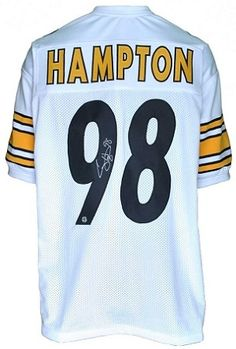 Share what you love about TSE!  Casey Hampton Autographed Pittsburgh Steelers…