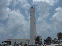 Lighthouse on the Island of Cozumel, Mexico-- Punta Celerain