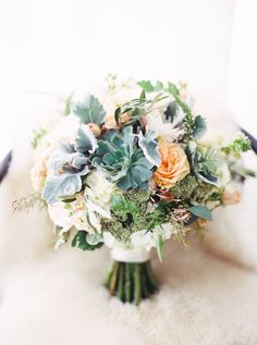 Lambs ear, hydrangea and ranunculus bouquet: http://www.stylemepretty.com/vault/gallery/38109 | Photography: Taylor Lord - http://www.taylorlord.com/