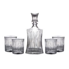 Whiskey Decanter Set Serve Alcohol Cocktail Bar Shot Liquor 5 PC Glass Wine New Cut Glass, Clear Glass, Wine Glass, Bar Shots, Whiskey Decanter, Bar Accessories, Things To Come, Glasses, Liquor