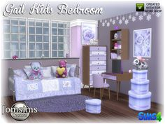 here for your sims a new kids bedroom. with soft color and confortable objects. Found in TSR Category 'Sims 4 Kids Bedroom Sets' The Sims, Sims Cc, Sims 4 Cc Furniture, Bed Furniture, Sims 4 Beds, Play Sims 4, Sims 4 Bedroom, Winter Bedroom, Kids Bedroom Sets