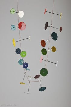 Andrea Wippermann - necklace Lollipop, 2011, enamelled steel, high-grade steel, string - 500 x 300 x 40 mm
