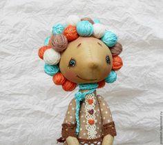 Купить Люблю вязать... - текстильная кукла, интерьерная кукла, кукла-девочка, вязание, любительница вязания