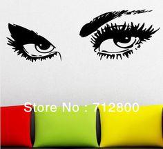 Wall Vinyl Sticker Decals Decor Girls Face Eye By StickersForLife - Wall decals eyes