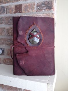 Hand made leather Bible cover www.etsy.com - @ashenfireoriginals