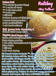 Rotiboy Pastry Recipes, Bread Recipes, Cake Recipes, Snack Recipes, Cooking Recipes, Delicious Recipes, Malaysian Cuisine, Malaysian Food, Malaysian Recipes