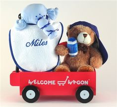 Beary naptime personalized baby gift basket boy newborn gifts personalized boys welcome wagon by baby gifts n treasures negle Image collections