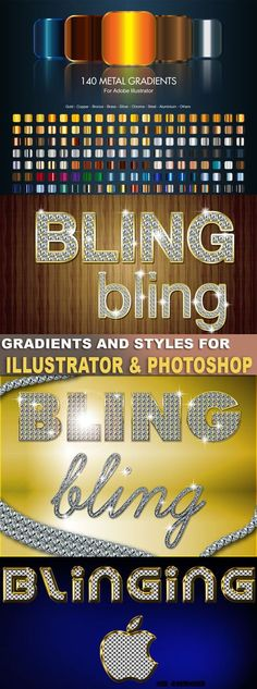 Styles and gradients for Photoshop & Illustrator