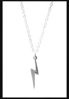 Harry Potter Sterling Silver Lightning Bolt by MidnightHouseElves