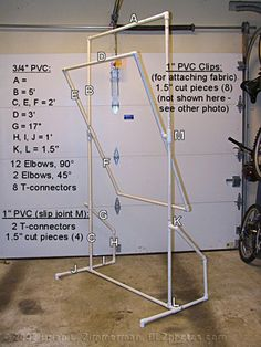 "A stand made of 3/4"" PVC to hold a diffusion panel made of ripstop nylon that slides up and down and tilts. Sliding joint is made of a ""Slip-Tee"" as described in the Tinker Tubes document at ""http://www.software-cinema.com/tinkertubes/tt-book.pdf"". Total cost, including 500W light stand, nylon and PVC parts is about $50. I also got a similar quartz-halogen 250W clip-on light for about $15 that I hung above to add some highlights to the hair. ..."