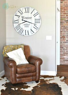 Large Round Wood Clock {customizable}