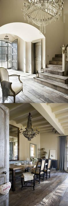 Chateau chic. | #chateau #french Steel Doors And Windows, Doors And Floors, Luxurious Homes, Luxury Homes, Rustic Chic Decor, Rustic Contemporary, French Interior, Grand Entrance, French Provincial