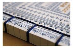 Blue Bon Journal Notebook by Essie Letterpress