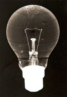 Man Ray - The bulb, Rayogram Dark Room Photography, A Level Photography, Experimental Photography, Photography Classes, Photography Projects, Black And White Photography, Street Photography, Bulb Photography, Amazing Photography