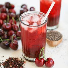 Hibiscus Cherry Chia Cooler Thirsty For Tea JUST COULDN'T RESIST PUTTING THIS ONE IN YOUR FOLDER.  HAS BEEN LONG TIME SINCE YOU GOT A CHIA RECIPE