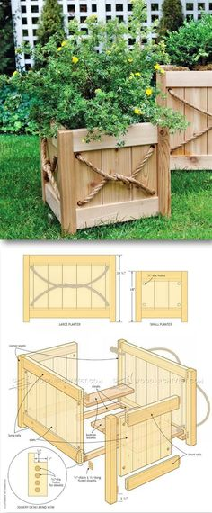 Cedar Planter Plans - Outdoor Plans and Projects | http://WoodArchivist.com