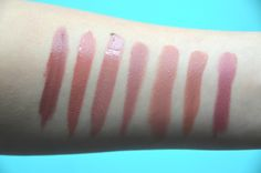 L'Oreal Infallible Pro-Matte Gloss Bare Attraction and Statement nude compared with other glosses! More info at http://colouringmehappy.com/2016/03/17/loreal-infallible-pro-matte-gloss/