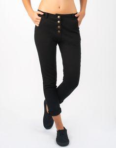 #Pantalón Double Agent botones tiro alto también en verde y en rojo por 29€ en www.doubleagent.es #pants  #fashion #moda