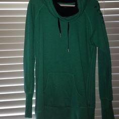 Calvin Klein sweatshirt Teal colored. Black inside. Calvin Klein. NEVER WORN Calvin Klein Jackets & Coats
