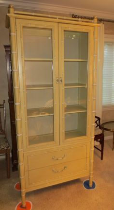 Faux Bamboo Cabinet